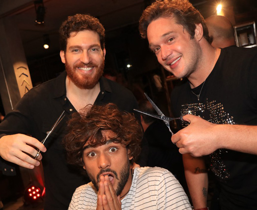 Cacá Maluf, Marlon Teixeira e Helinho Calfat