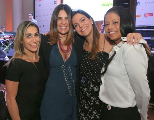 Daniele Hypolito, Claudia Romano, Carol Sampaio e Adriana Bombom
