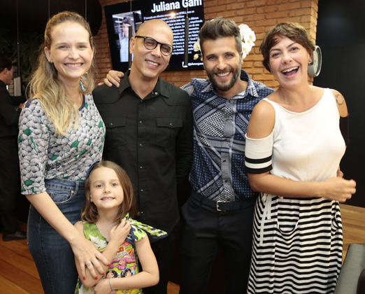 Fernanda, Luiza, Anderson, Bruno e Fabiula