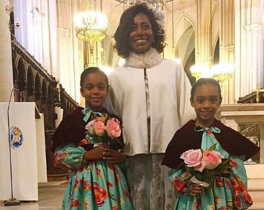 Glória Maria com as filhas