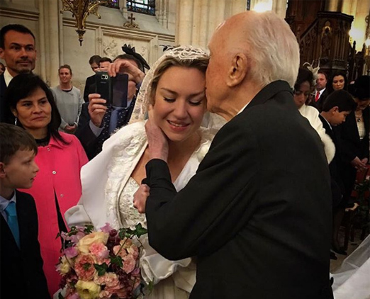 Jacques Louis Mercier com a filha Marie