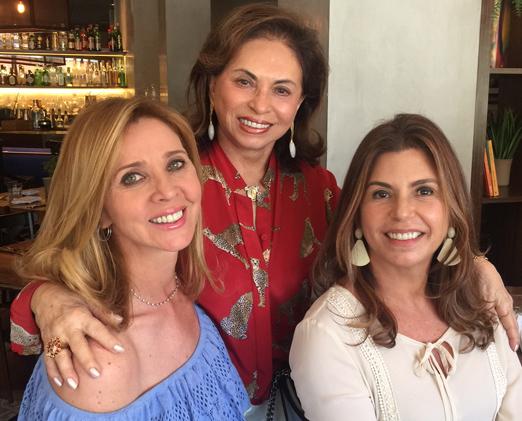 Kátia com Cleuba Verri e Raquel Verri