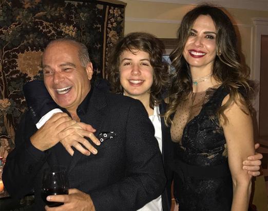 Luciana Gimenez com Marcelo de Carvalho e Lucas Jagger