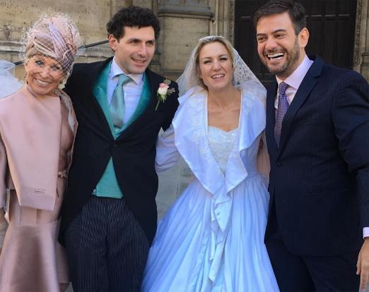 Marie Annick Mercier e Bruno Astuto com os noivos