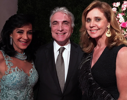 Monica Clark com os queridos Edmar Fontoura e Kátia Spolavori