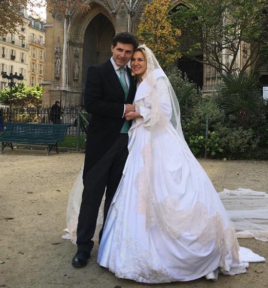 Os noivos James Farha e Marie Mercier