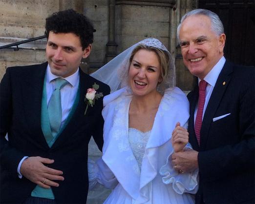 Os noivos com Ricardo Stambowsky