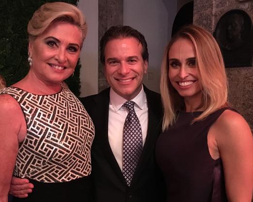 Paula Almeida com Marc Gross e Jordana Marchese