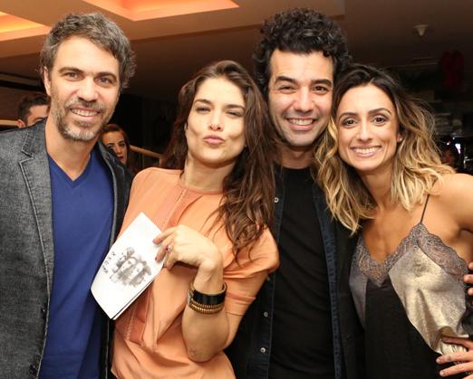 Regis Faria, Priscila Fantin, Gustavo Machado e Camila Lucciola