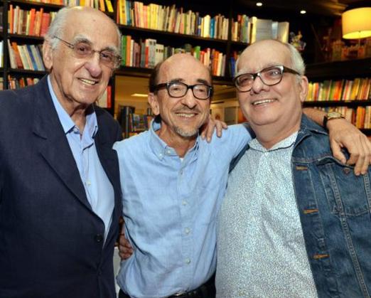 Zuenir Ventura, Joaquim Ferreira dos Santos e Artur Xexéo
