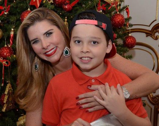 Bianca Marques e o filho Luis Filipe