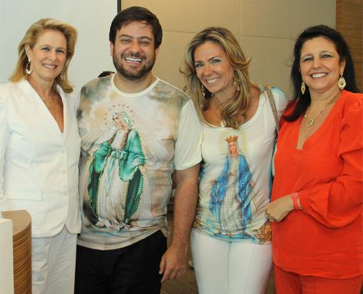 Glória, Bruno, Márcia e Clara