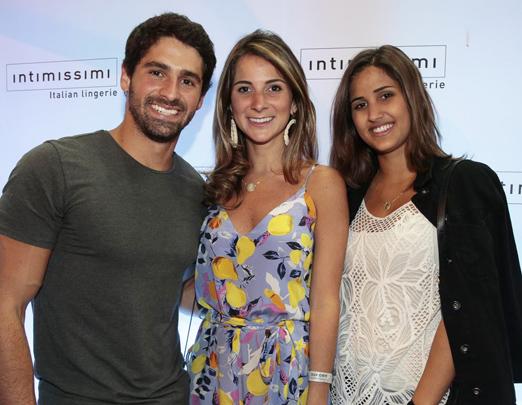 JC Lopes, Tatiana Rudge e Julia Sampaio
