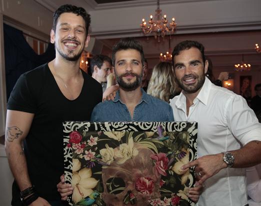 João Vicente de Castro, Bruno Gagliasso e Chico Salgado
