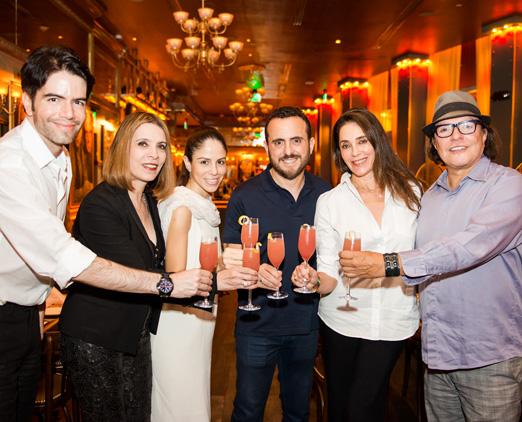 Luiz Fernando Coutinho, Liège Monteiro, o casal Caroline e Isaac Azar, Christiane Torloni e Wolf Maya