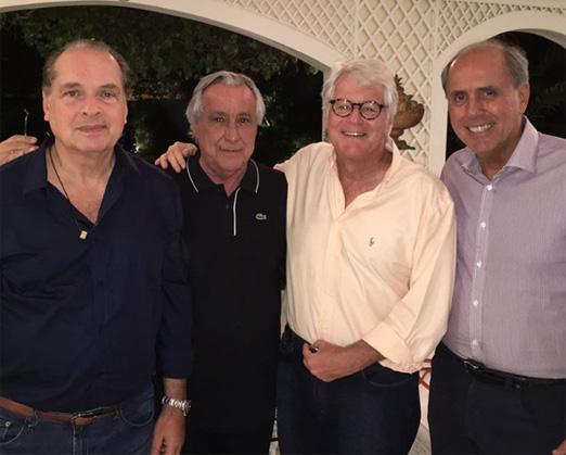 Luiz Severiano Ribeiro, Leleco Barbosa, Chico Peltier e Sérgio Clark