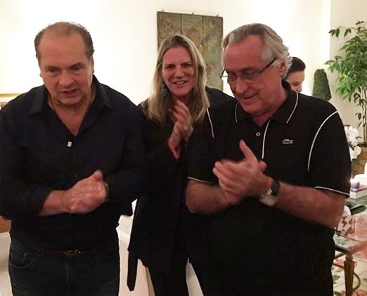 Luiz Severiano Ribeiro e o casal Maninha e Leleco Barbosa