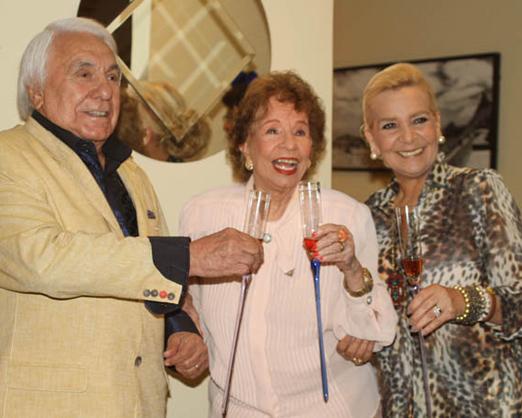Luiz e Vera Bangel com Daisy Lucidi