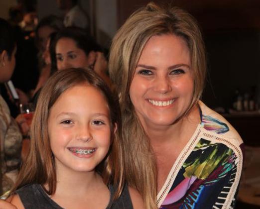 Maria Candida e a filha Lara