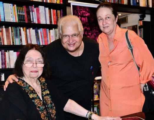 Nélida com o casal Carlos Alberto e Beth Serpa