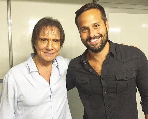 Roberto Carlos e Marcelo Calero