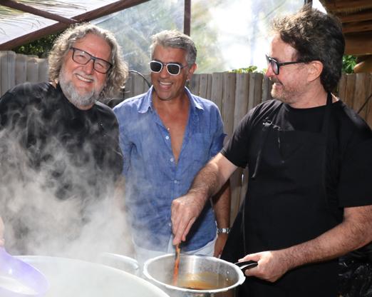Roberto Ravioli, Rogério Saladino e Wanderley Nunes