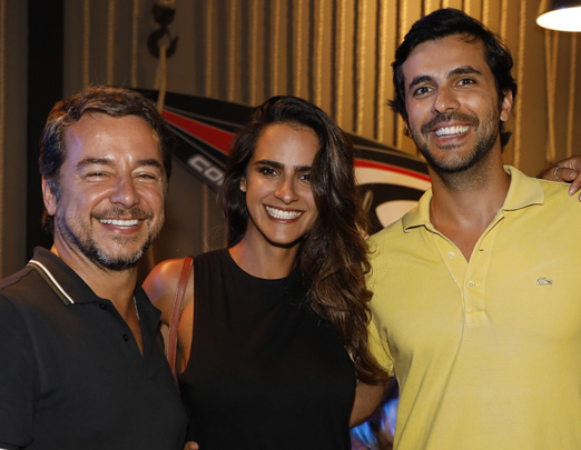 Carlos Vieira, Marcella Fogaça e Arthur Fernandes