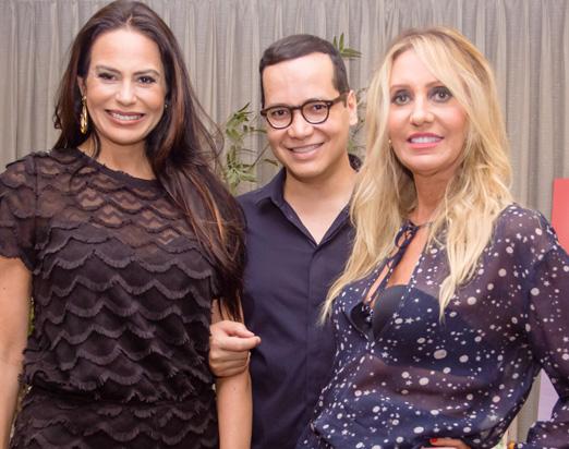 Cozete Gomes, Marcelo Chaves e Christiane Abrão