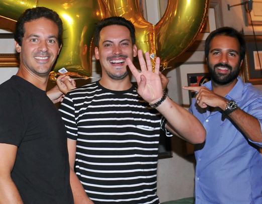Giba Zurita, Guga Guizelini e Bruno Dias