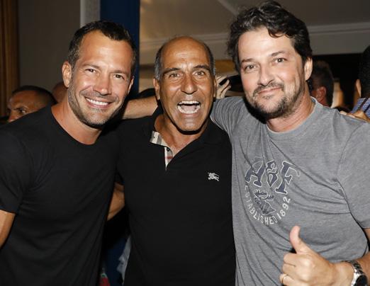 Malvino Salvador, Pedro Matos e Marcelo Serrado