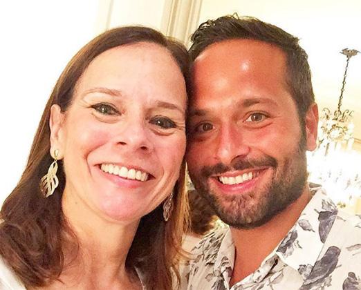 Marcelo Calero e sua mãe Teresa