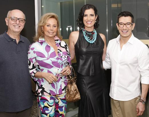Alberto Sabino, Sandra Naslausky, Flavia Manahu e Marcelo Hicho