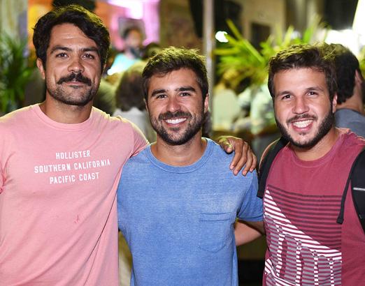 André Cavalieri, Gabriel Colares e Luiz Felipe Bicudo
