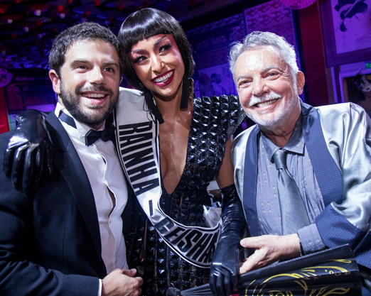 Duda Nagle, Sabrina Sato e Mario Borriello