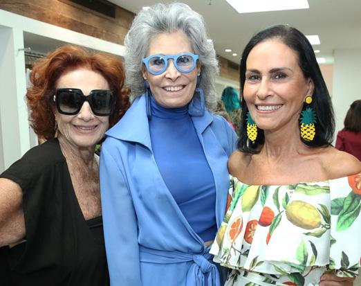 Eliana Moura, Gisela Amaral e Beth Pinto Guimarães