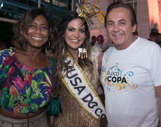 Glória Maria, Carol Sampaio e Ricardo Rique