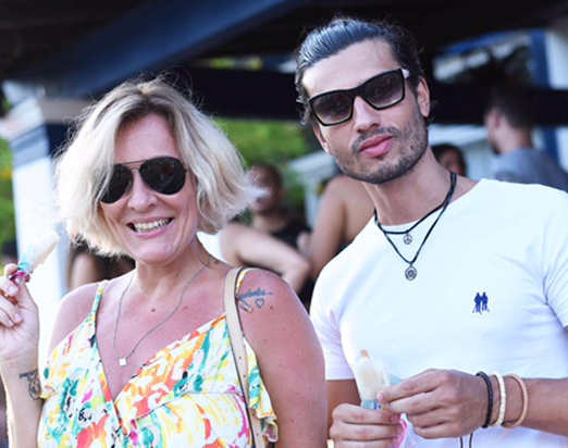 Jackie Sampaio e Maikel Castro