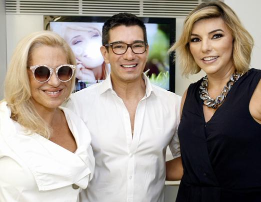 Jaqueline Nogueira, Marcelo Hicho e Adriana Calmon