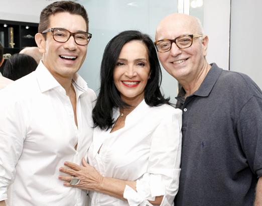 Marcelo Hicho, Liliana Rodriguez e Alberto Sabino