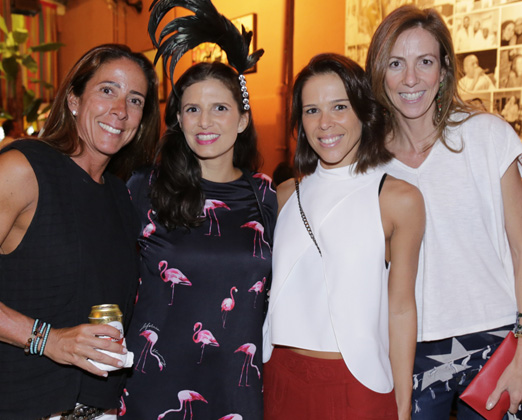 Mariana Pucci, Fernanda Suplicy, Carolina Freixo e Paula Brauen