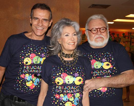 Mario Gomes com o casal Gisella e Ricardo Amaral