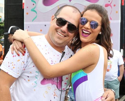 Michel Diamant e Bruna Marquezine