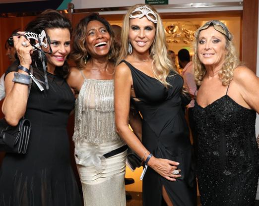 Narcisa Tamborindeguy, Glória Maria, Nina Stevens e Giovanna Deodato