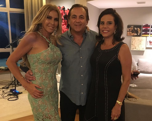 Nina Stevens, Ricardo Rique e Narcisa Tamborindeguy