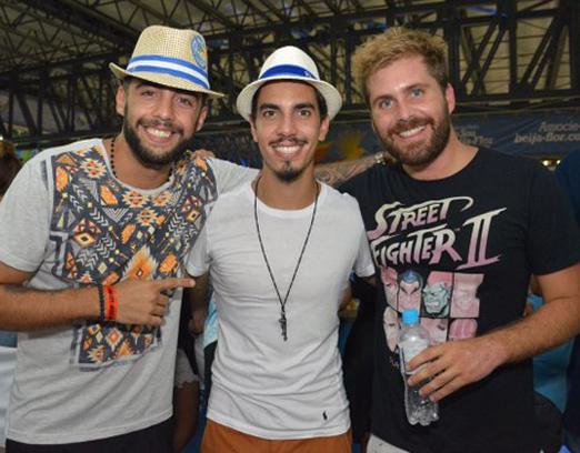 Pedro Scooby, Gabriel David e Thiago Gagliasso