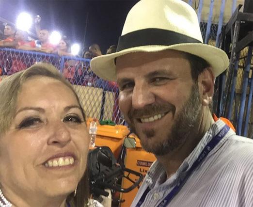 Audrey Lundgren e Eduardo Paes