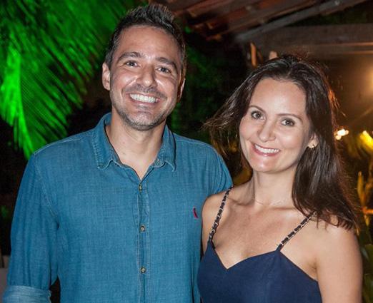 Claudio Cesar e Erika Faria