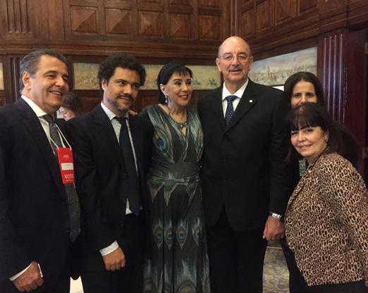 Claudio Pereira, Daniel Zarvos, Yacy Nunes, o Ministro Osmar Terra, Paula Serrador e Karim Miskulin