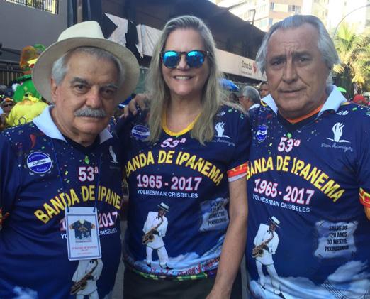 Claudio Pinheiro com o casal Maninha e Leleco Barbosa