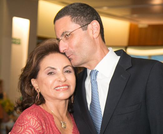 Cleuba Verri e o genro Henrique Szapiro